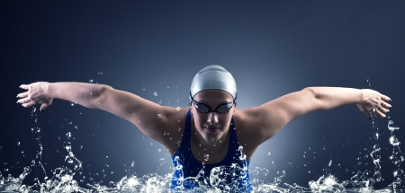 Swimmer swims. photo