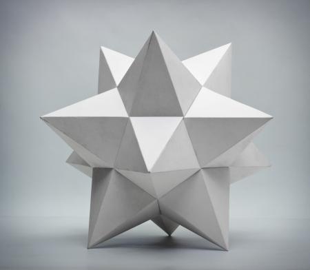 Abstracte geometrische vorm van piramides Stockfoto