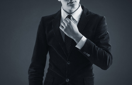 Homme élégant dans un costume élégant Banque d'images - 26064928