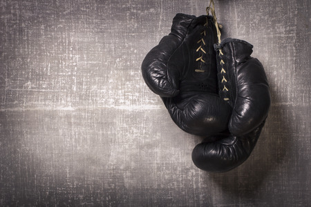 knockout: Boxing Gloves Stock Photo