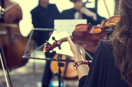violins: Classical music concert outdoors