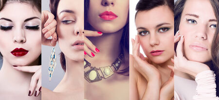 Faces of women  Fashion photo  Beauty collage  photo