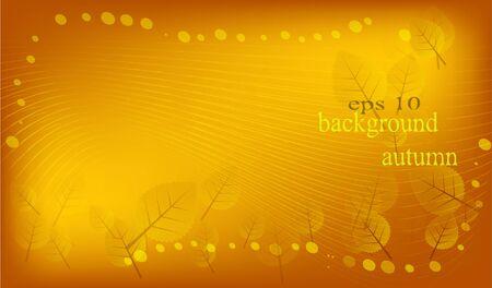 Stock vector autumn background