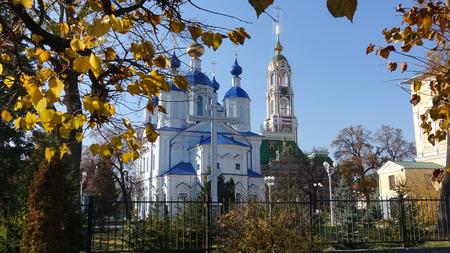 Near Kazan Cathedral in Tambov Russia in an autumn sunny day Reklamní fotografie