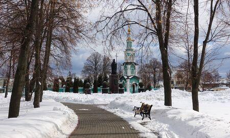 Tambov, Russia. March 02, 2019 Monument to the pitirim in Tambov. The author of the monument is the artist A. Rukavishnikov.
