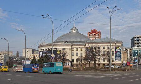 Kiev, Ukraine, March 08, 2019: Circus building in Kiev Ukraine on a sunny day Редакционное