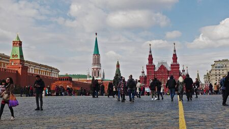 Moscow, Russia. April 14, 2019 Moscow Red Square on a spring day