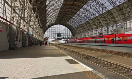 Moscow, Russia. April 14, 2019 Kiev railway station in Moscow Covered station Редакционное