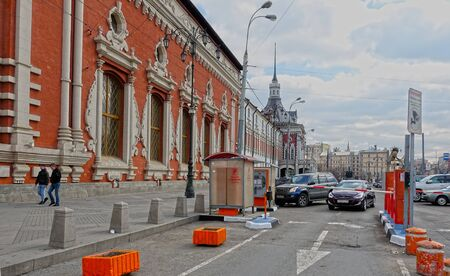 Moscow, Russia. April 14, 2019 Kazan railway station Moscow Komsomolskaya Square