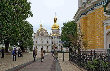 Kyiv. Ukraine. may 11 2019 Kiev-Pechersk Lavra in the spring. Assumption Cathedral Редакционное