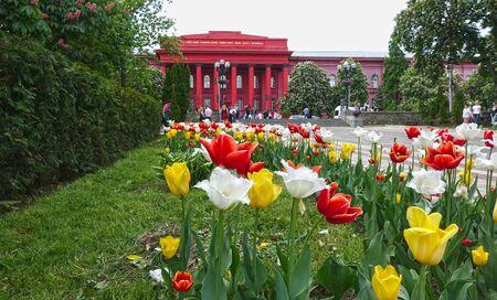Kiev. Ukraine. may 11, 2019 Building of Kiev National Shevchenko University in spring