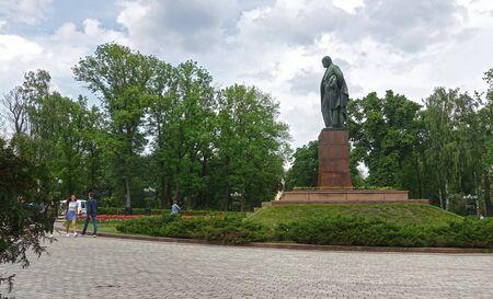 Kiev. Ukraine. May 16 2019 Monument to poet Taras Shevchenko in Kiev on a summer day Редакционное