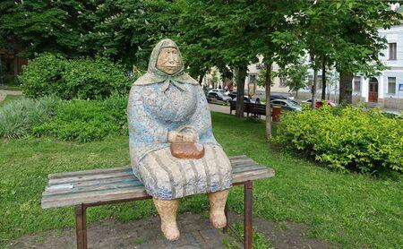Kiev. Ukraine. May 16, 2019 Kiev Ukraine May 16 2019 Monument Grandma Classic
