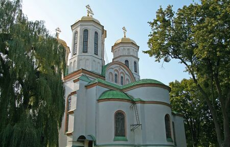 Epiphany Church in Ostrog. Orthodox church- the architectural dominant of Ostrog castle Banque d'images
