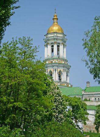 In the Kiev-Pechersk Lavra in the spring. The Great Bell Tower