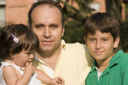 Lovely father and kids Stock Photo - 9102917