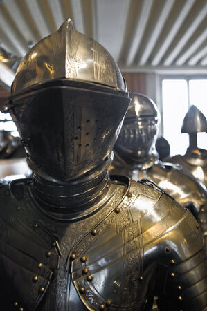 MEDIEVAL ARMOUR FROM A COLLECTION IN A PARIS MUSEUM