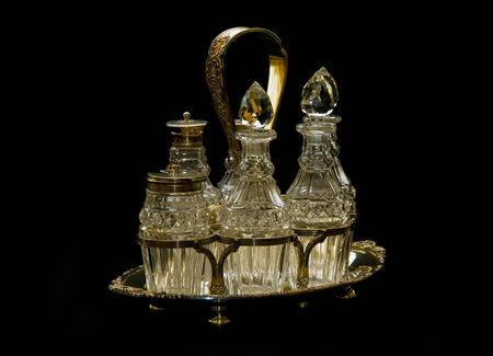 Antique Victorian Sterling Silver large table cruet set