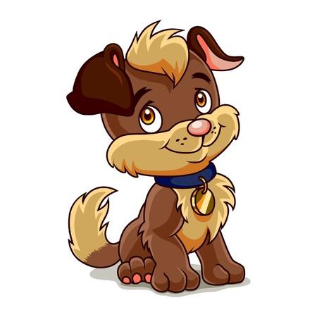 perro caricatura: Peque�o cachorro Diversi�n