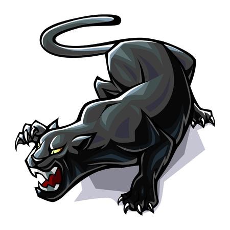 Gestileerde Panther Stock Illustratie