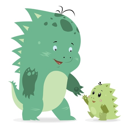 Big and small dragons Vector