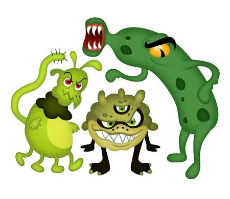 funny bacteriën Stockfoto