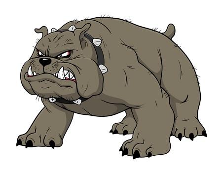 Angry bulldog Stock Photo - 16387009