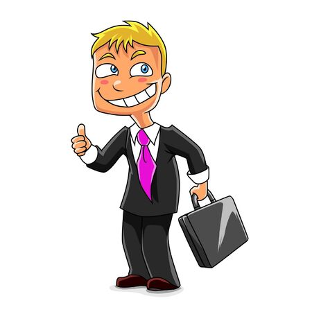 funny businessman Stock Vector - 16904998