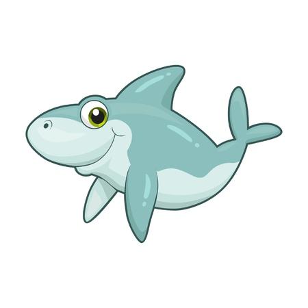 simple fish: cute shark