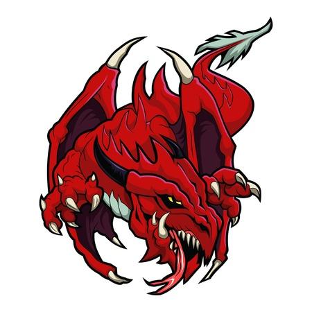 dragon rouge: Red Dragon Illustration