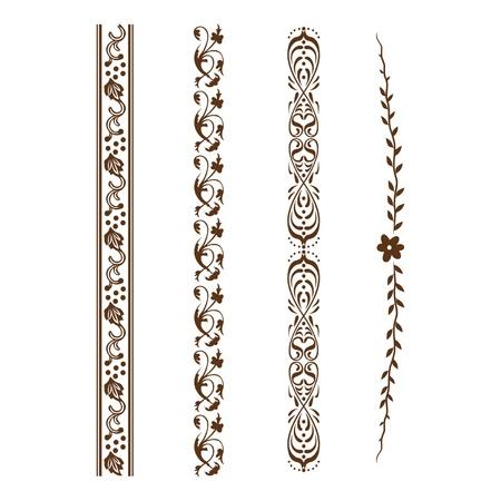 Bloemen ornament voor kaders en randen Stock Illustratie