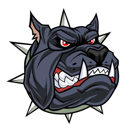 Zwarte hond hoofd Stock Illustratie