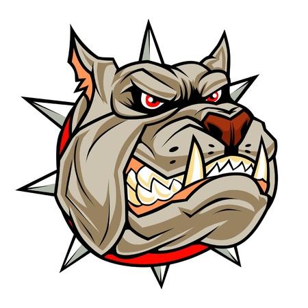 Angry hond hoofd Stock Illustratie
