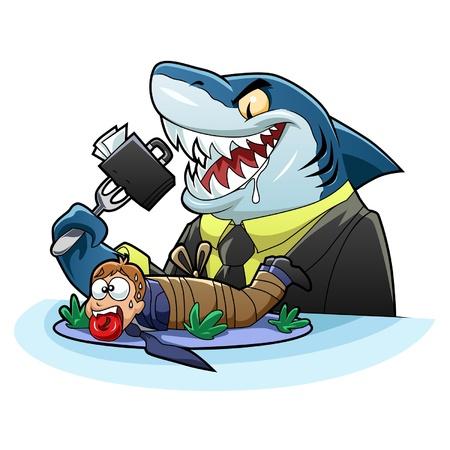 tiburon caricatura: negocios tibur�n