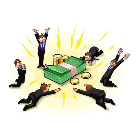 careerist: Money worship Illustration