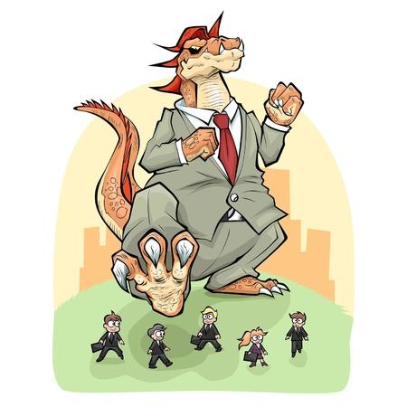 debility: Big corporation Illustration
