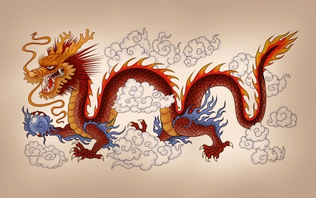 tribal dragon: chinese dragon