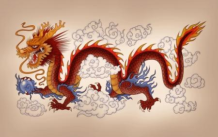 dragones: Drag�n chino Foto de archivo