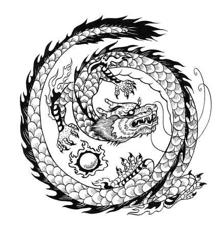Asian dragon Stock Photo - 18798158