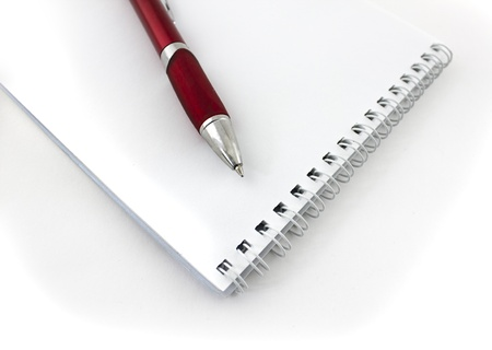 red pen: red pen and notepad