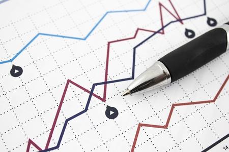 data sheet: business graph Stock Photo