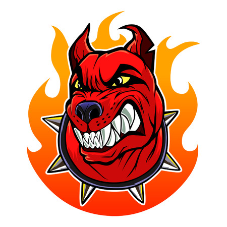 Infernal dog Vector