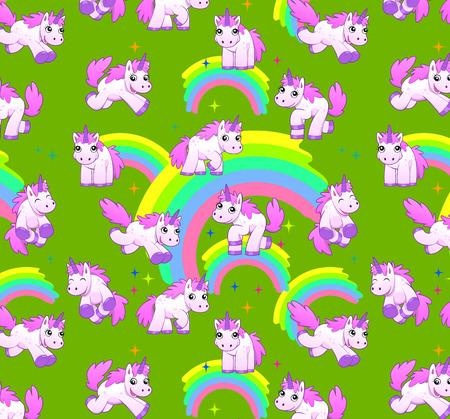 unicorn pattern green Reklamní fotografie