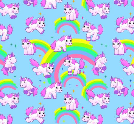 unicorn pattern blue Standard-Bild