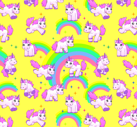unicorn pattern yellow