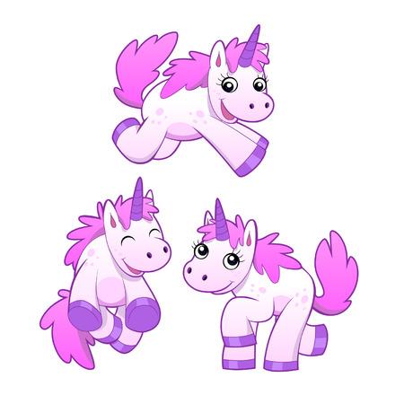 three unicorns Vector