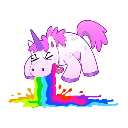 ivresse: licorne arc en ciel vomir
