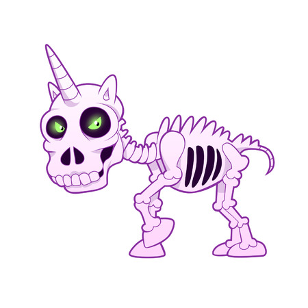 skeleton: unicorn skeleton