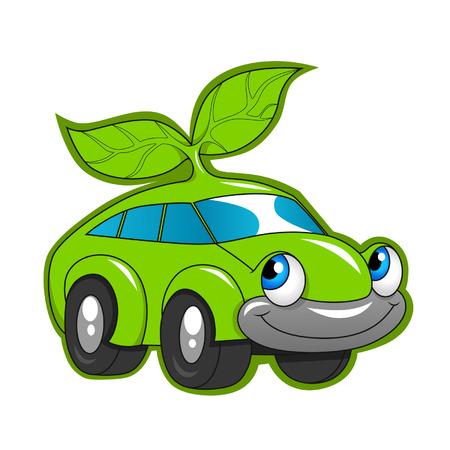 Cute eco friendly car Vector