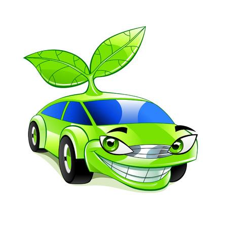 hybrid car: Eco friendly car Illustration